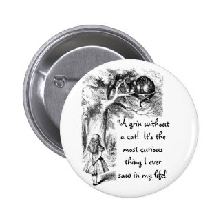 Alice and the Cheshire Cat Button