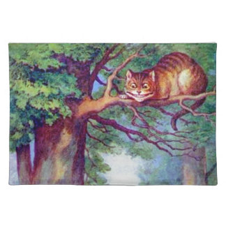 Alice and the Cheshire Cat Cloth Placemat