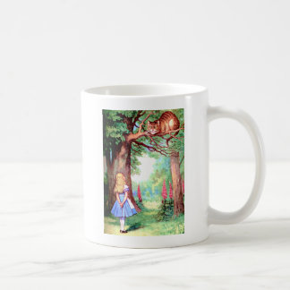 ALICE  AND THE CHESHIRE CAT COFFEE MUG