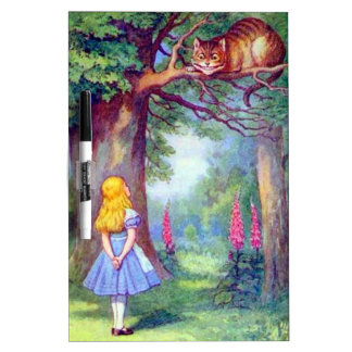 Alice and the Cheshire Cat Dry-Erase Board
