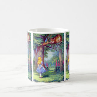 Alice and the Cheshire Cat Full Color Coffee Mug