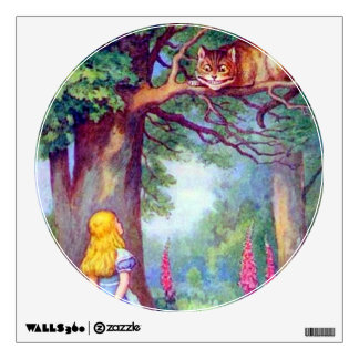 Alice and the Cheshire Cat Full Color Decal