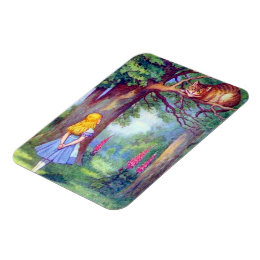 Alice and the Cheshire Cat Full Color Flexi Magnet