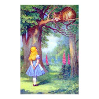 Alice and the Cheshire Cat Full Color Full Color Flyer