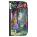 Alice and the Cheshire Cat Full Color Kindle Case