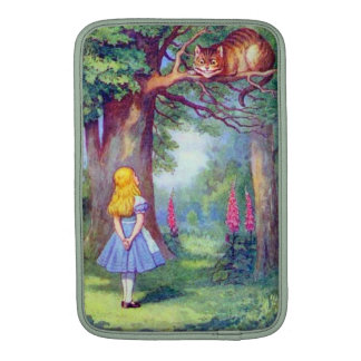 Alice and the Cheshire Cat Full Color MacBook Sleeve
