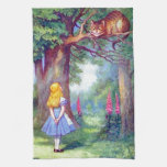 Alice and the Cheshire Cat Full Color Towel