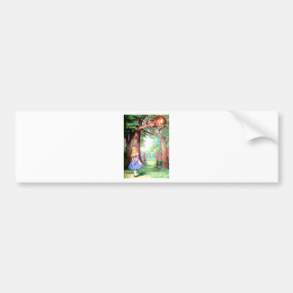 Alice and The Cheshire Cat in Wonderland Bumper Sticker