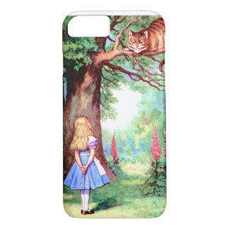 Alice and The Cheshire Cat in Wonderland iPhone 7 Case