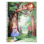 Alice and The Cheshire Cat in Wonderland Spiral Note Book