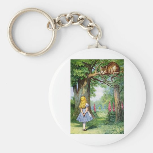 ALICE AND THE CHESHIRE CAT KEYCHAIN