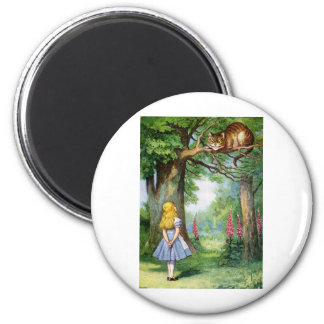 ALICE AND THE CHESHIRE CAT MAGNET