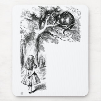Alice and the Cheshire Cat Mousepads