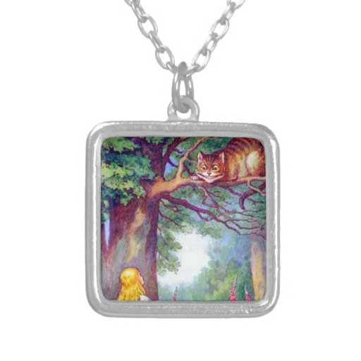 Alice and the Cheshire Cat Pendant