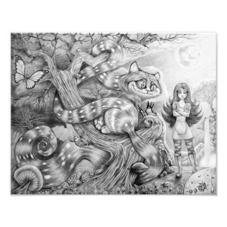 """""""Alice and the Cheshire Cat"""" Photographic Print Cojinete"""