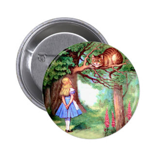 ALICE  AND THE CHESHIRE CAT PINBACK BUTTON