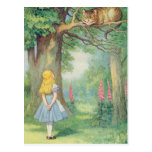 Alice and the Cheshire Cat Post Card