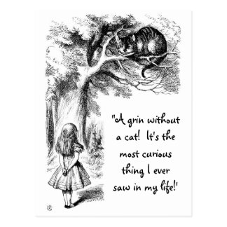 Alice and the Cheshire Cat Post Cards