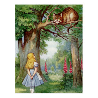Alice and the Cheshire Cat Postcard