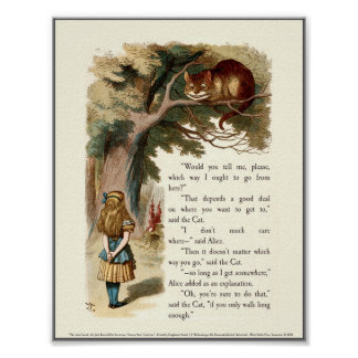 Alice and the Cheshire Cat Print