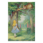 Alice and the Cheshire Cat Poster