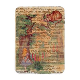 Alice and the Cheshire Cat Rectangular Photo Magnet
