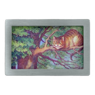 Alice and the Cheshire Cat Rectangular Belt Buckle
