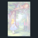 "Alice and the Cheshire Cat Stationery<br><div class=""desc"">Wonderland</div>"