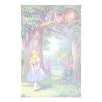 Alice and the Cheshire Cat Stationery