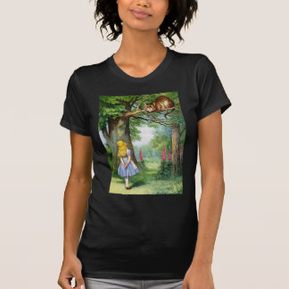 ALICE AND THE CHESHIRE CAT T-SHIRT