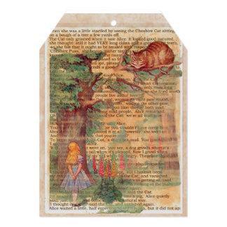 Alice and the Cheshire Cat Tea Party Invitation 13 Cm X 18 Cm Invitation Card