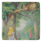 Alice and the Cheshire Cat Trivet