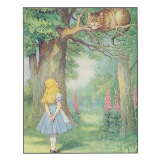 Alice and the Cheshire Cat Wood Wall Art
