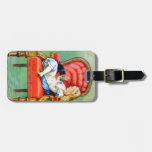 Alice and the Dinah the Cat in the Big Red Chair Luggage Tags