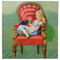 Alice and the Dinah the Cat in the Big Red Chair