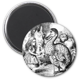 Alice and the Dodo 2 Inch Round Magnet
