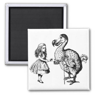 Alice and the Dodo 2 Inch Square Magnet