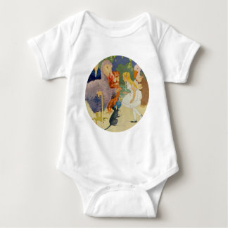 Alice and the Dodo Bird at the Caucus Race Baby Bodysuit