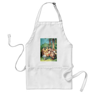Alice and The Dodo Bird in Wonderland Aprons