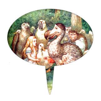 Alice and The Dodo Bird in Wonderland Cake Topper