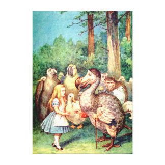 Alice and the Dodo Bird in Wonderland Canvas Print