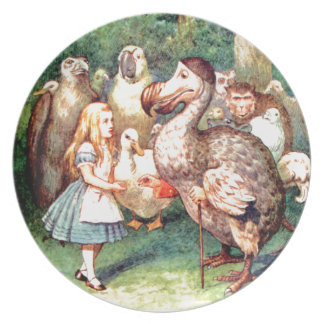 Alice and The Dodo Bird in Wonderland Dinner Plate