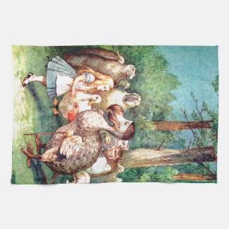 Alice and The Dodo Bird in Wonderland Kitchen Towels