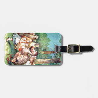 Alice and The Dodo Bird in Wonderland Travel Bag Tags