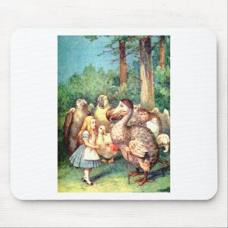 Alice and The Dodo Bird in Wonderland Mouse Pad
