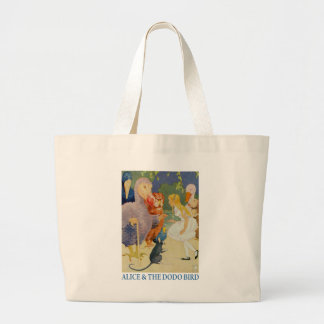 Alice and the Dodo Bird Large Tote Bag