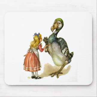 Alice and the Dodo Bird Mouse Pad