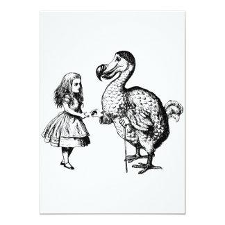 Alice and the Dodo Inked Black 5x7 Paper Invitation Card