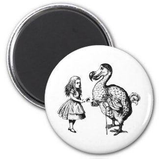 Alice and the Dodo Inked Black Magnet