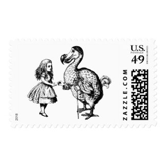 Alice and the Dodo Inked Black Postage